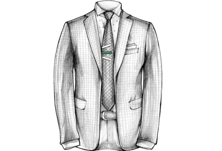 Ángulo- pasador- de- corbata